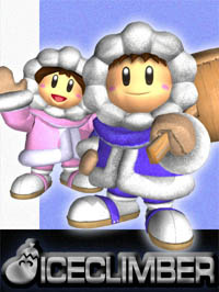 The Ice Climbers in Super Smash Bros. Melee.