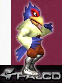 Falco Lombardi in Super Smash Bros. Melee.