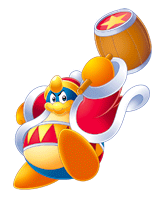 Brawl Sticker King Dedede (Kirby Squeak Squad).png