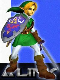 Link in Super Smash Bros. Melee.
