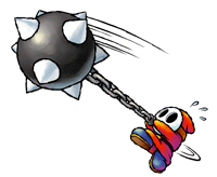 Brawl Sticker Mace Guy (Yoshi Topsy-Turvy).png