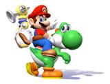 Brawl Sticker Mario & Yoshi (Super Mario Sunshine).png