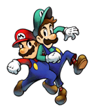Brawl Sticker Mario & Luigi (Mario & Luigi SS).png