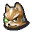 Fox's stock icon in Super Smash Bros. for Wii U.