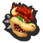 Bowser's stock icon in Super Smash Bros. for Wii U.