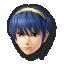Marth's stock icon in Super Smash Bros. for Wii U.