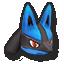 Lucario's stock icon in Super Smash Bros. for Wii U.