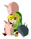 Brawl Sticker Link & Pigs (Zelda Wind Waker).png