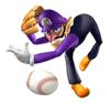 Brawl Sticker Waluigi (Mario Superstar Baseball).png