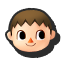 Villager's stock icon in Super Smash Bros. for Wii U.