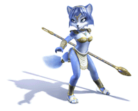 Brawl Sticker Krystal (Star Fox Adventures).png