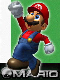 Mario in Super Smash Bros. Melee.