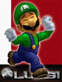 Luigi in Super Smash Bros. Melee.