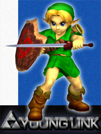 Young Link in Super Smash Bros. Melee.