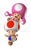Brawl Sticker Toad & Toadette (Mario Party 7).png