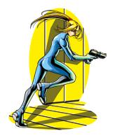 Brawl Sticker Running Zero Suit Samus (Metroid ZM).png