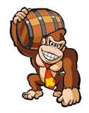 Brawl Sticker DK with Barrel (Mario vs. DK 2 MotM).png