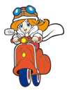 Brawl Sticker Mona & Moped (WarioWare MMG).png