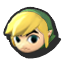 Toon Link's stock icon in Super Smash Bros. for Wii U.