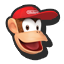 Diddy Kong's stock icon in Super Smash Bros. for Wii U.