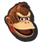 Donkey Kong's stock icon in Super Smash Bros. for Wii U.