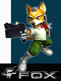 Fox McCloud in Super Smash Bros. Melee.