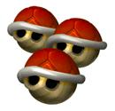 Brawl Sticker Triple Red Shells (Mario Kart DD!!).png