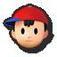 Ness's stock icon in Super Smash Bros. for Wii U.