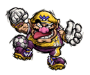 Brawl Sticker Wario (Super Mario Strikers).png