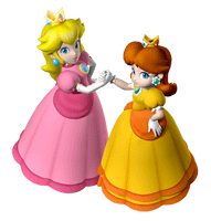 Brawl Sticker Peach & Daisy (Mario Party 7).png