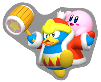 Brawl Sticker King Dedede & Kirby (Kirby 64).png