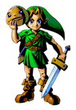 Brawl Sticker Link with Goron Mask (Zelda MM).png