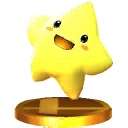 Starfy's trophy in Super Smash Bros. for Nintendo 3DS.
