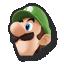 Luigi's stock icon in Super Smash Bros. for Wii U.