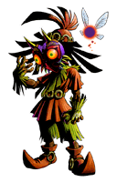 Brawl Sticker Skull Kid (Zelda Majora's Mask).png