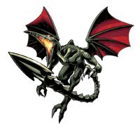 Brawl Sticker Ridley (Metroid Zero Mission).png
