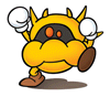 Brawl Sticker Yellow Virus (Nintendo Puzzle Collection).png