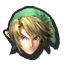 Link's stock icon in Super Smash Bros. for Wii U.