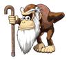 Brawl Sticker Cranky Kong (Donkey Konga 3 JP).png