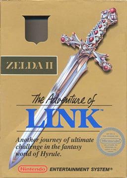 Box art of Zelda II: The Adventure of Link.
