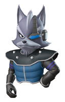 Brawl Sticker Wolf (Star Fox Command).png