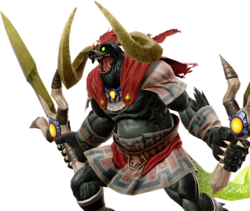 Official artwork of the boss Ganon from Ultimate