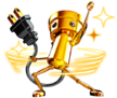 Artwork of Super Chibi Robo used for his Spirit. Ripped from Game Files