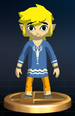 Outset Link trophy from Super Smash Bros. Brawl.