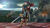 Marth's second idle pose in Super Smash Bros. for Wii U.