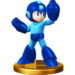 Mega Man's trophy in the Wii U version