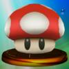 Super Mushroom trophy from Super Smash Bros. Melee.
