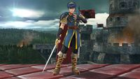 Marth's first idle pose in Super Smash Bros. for Wii U.