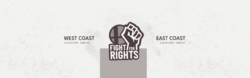 Banner for the Fight For Rights online tournaments.
