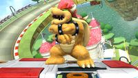 Bowser's second idle pose in Super Smash Bros. for Wii U.